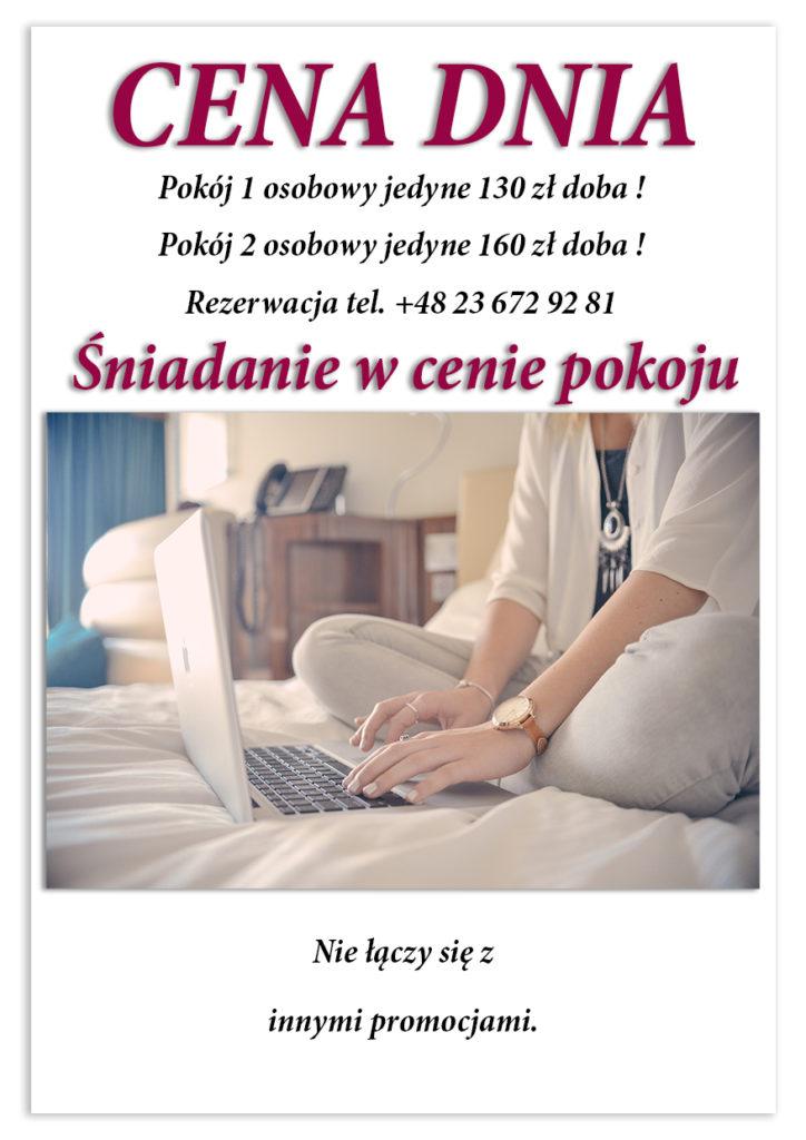 cena hotelu w Ciechanowie